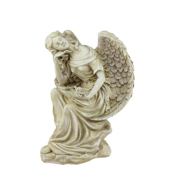 12-Heavenly-Gardens-Distressed-Almond-Brown-Daydreaming-Angel-with-Rose-Outdoor-Patio-Garden-Statue