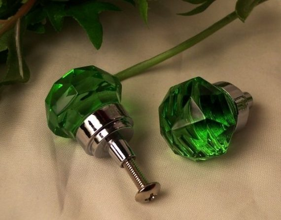 SMALL-Green-Crystal-Glass-DrawerDoor-Pull-0170S-HO35G