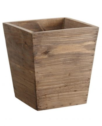 """8.75"""" Country Rustic Natural Wood Storage Bin Container"""