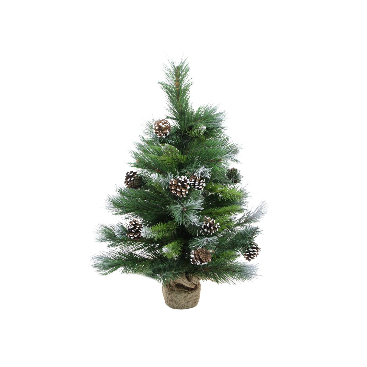 Country Pines Christmas Tree Farms: 2' Frosted Glacier Pine Artificial Christmas Tree In