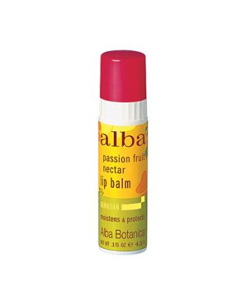 Alba Botanica Lip Balm - Passion Fruit - Case of 24 - .15 oz