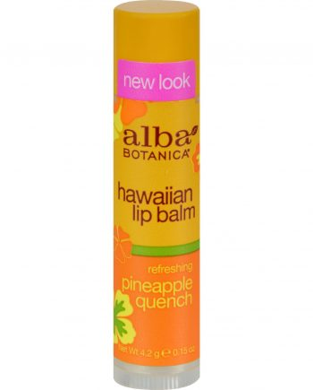 Alba Botanica Lip Balm - Pineapple Quench - Case of 24 - .15 oz