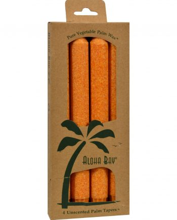Aloha Bay Palm Tapers Orange - 4 Candles