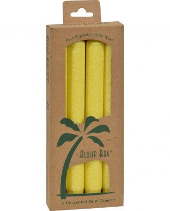 Aloha Bay Palm Tapers Yellow Candle Unscented - 4 Candles