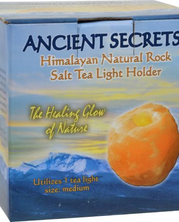 Ancient Secrets Himalayan Natural Rock Salt Tea Light Holder - Medium - 1 Holder