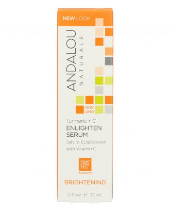Andalou Naturals Enlighten Serum Turmeric + C Brightening - 1.1 oz