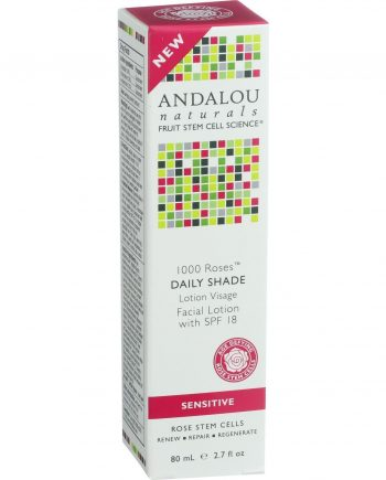 Andalou Naturals Facial Lotion - 1000 Roses - Daily Shade SPF 18 - 2.7 oz
