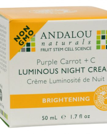 Andalou Naturals Luminous Night Cream Purple Carrot + C - 1.7 oz