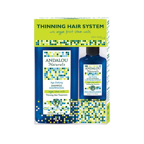 Andalou Naturals Thinning Hair System with Argan Fruit Stem Cells – 3 Pieces
