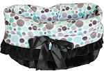 Aqua Party Dots Reversible Snuggle Bugs Pet Bed