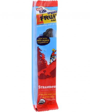 Clif Bar Kid Zfruit - Organic Strawberry - Case of 18 - .7 oz