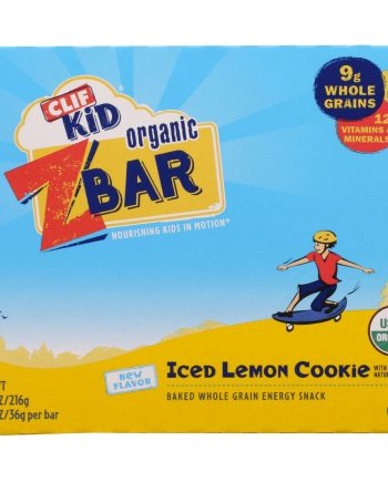 Clif Bar Zbar - Organic - Clif Kid - Iced Lemon Cookie - 7.62 oz - case of 12