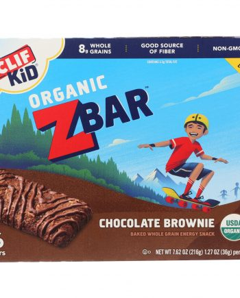 Clif Kid Zbar - Organic - Chocolate Brownie - 7.62 oz - Case of 12
