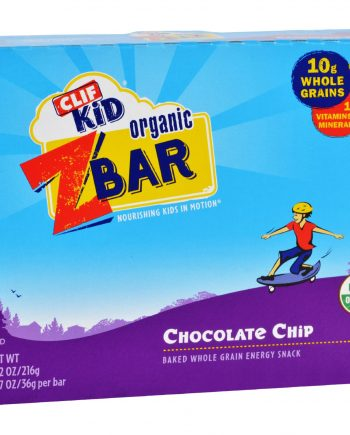 Clif Kid Zbar - Organic - Chocolate Chip - 7.62 oz - Case of 12