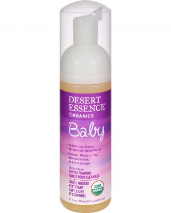 Desert Essence Baby 2 In 1 Gentle Foaming Hair and Body Cleanser Oh So Clean Fragrance Free - 5.7 fl oz