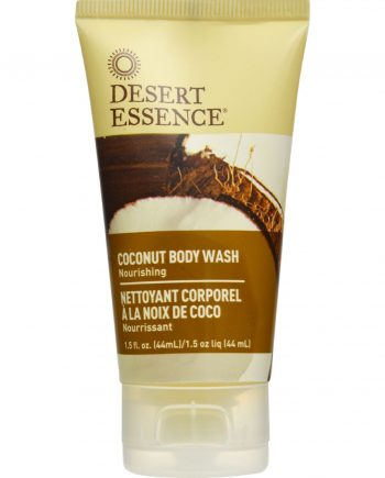 Desert Essence Body Wash - Coconut - Travel Size - 1.5 fl oz - 1 Case
