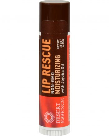 Desert Essence Lip Rescue Display Case - Jojoba and Aloe - Case of 24 - .15 oz