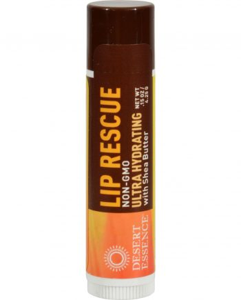 Desert Essence Lip Rescue with Shea Butter - 0.15 oz - Case of 24