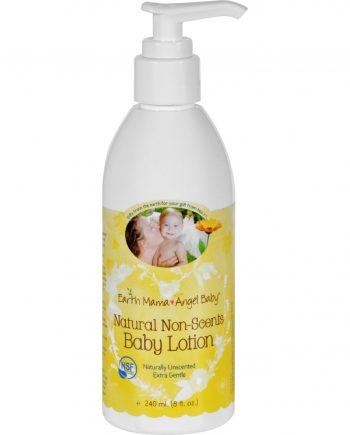 Earth Mama Angel Baby Lotion - Natural Non-Scents - Fragrance Free - 8 oz