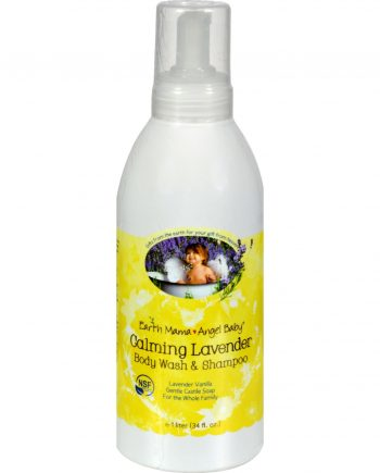 Earth Mama Angel Baby Shampoo and Body Wash - Organic Lavender - 34 oz