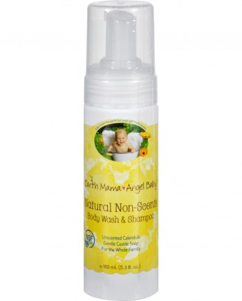 Earth Mama Angel Baby Shampoo and Body Wash - Organic Unscented - 5.3 oz