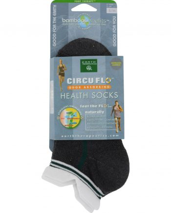 Earth Therapeutics CircuFlo Odor Absorbing Health Socks Small Medium - 1 Pair