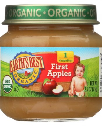 Earth's Best Organic First Apples Baby Food - Stage 1 - Case of 12 - 2.5 oz.