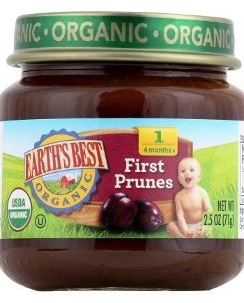 Earth's Best Organic First Prunes Baby Food - Case of 12 - 2.5 oz.