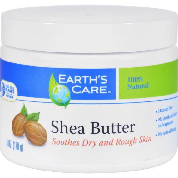 Earth's Care Shea Butter – 100 Percent Pure – Natural – 6 oz