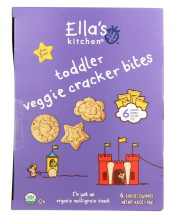 Ella's Kitchen Toddler Snacks - Veggie Cracker - Case of 6 - 4.8 oz.