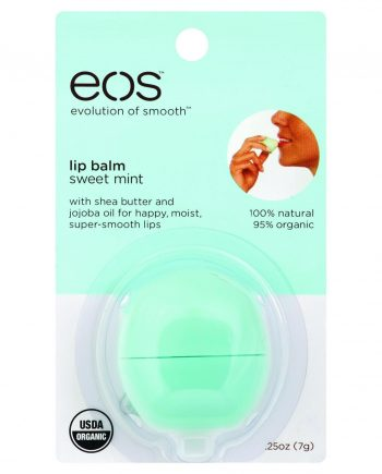 Eos Products Lip Balm - Smooth Sphere - Organic - Sweet Mint - .25 oz - Case of 6