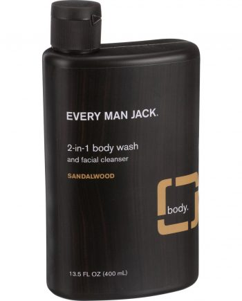 Every Man Jack 2 in 1 Body Wash and Facial Cleanser - Sandalwood - 13.5 oz