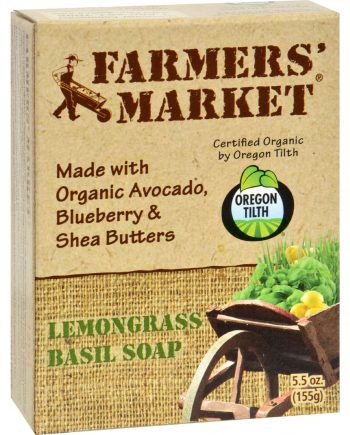 Farmer's Market Natural Bar Soap Lemongrass Basil - 5.5 oz