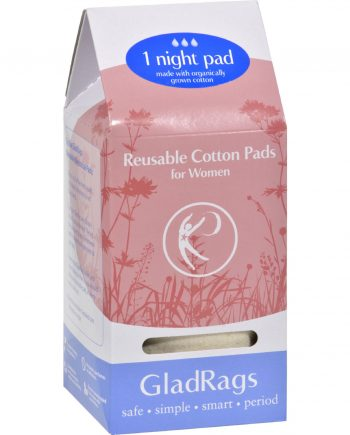 Gladrags Organic Undyed Night Pads - 1 Pack