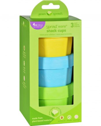 Green Sprouts Snack Cups - Sprout Ware - 6 Months Plus - Aqua Assorted - 3 Pack