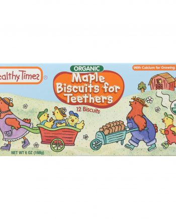 Healthy Times Organic Biscuits For Teethers - Maple - Case of 12 - 6 oz.