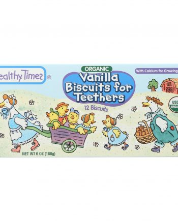 Healthy Times Organic Biscuits For Teethers - Vanilla - Case of 12 - 6 oz.