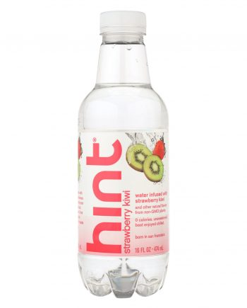 Hint Fruit Water - Strawberry and Kiwi - Case of 12 - 16 Fl oz.