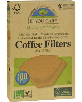 If You Care #4 Cone Coffee Filters - Brown - 100 Count