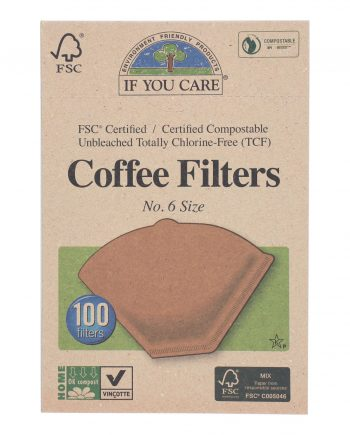 If You Care Coffee Filters - Brown - Cone - Number 6 - 100 Count