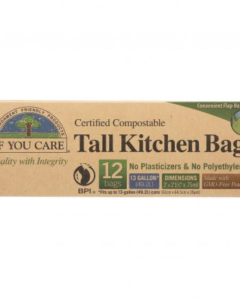 If You Care Trash Bags - Certified Compostable - Case of 12 - 12 Count