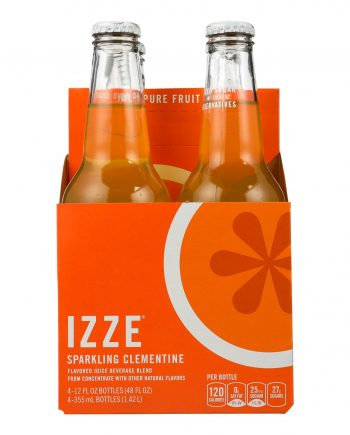 Izze Sparkling Juice - Clementine - Case of 6 - 12 Fl oz.