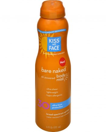 Kiss My Face Bare Naked Body Mist - Air Powered SPF 30 - 6 oz