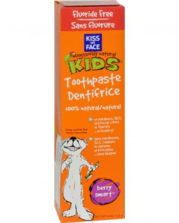 Kiss My Face Kids Toothpaste Fluoride Free Berry Smart - 4 oz