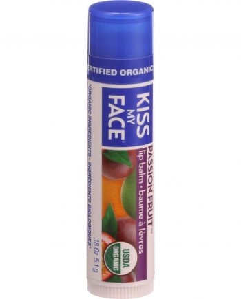Kiss My Face Organic Lip Balm - Passion Fruit - .18 oz - Case of 24