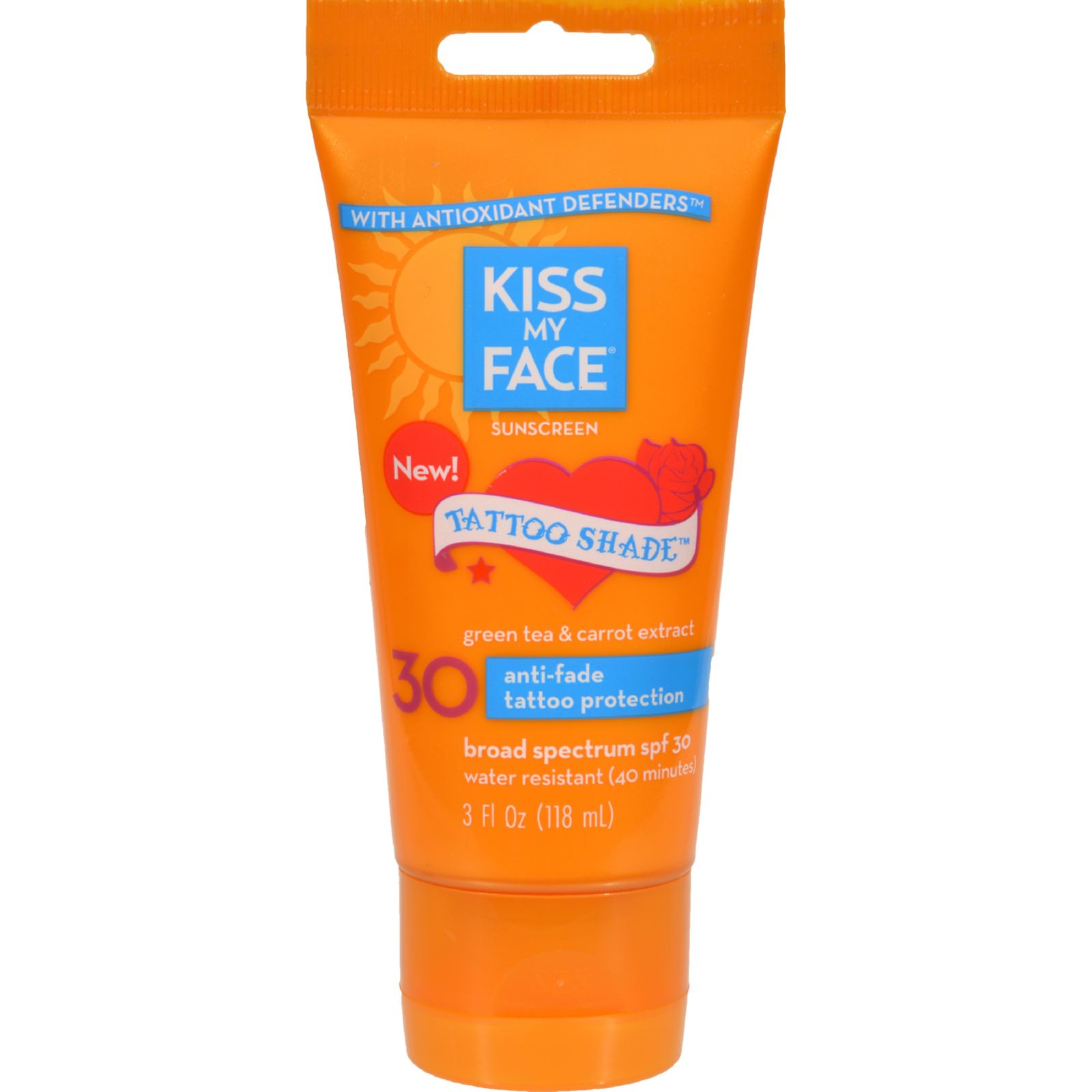 Kiss my face sunscreen tattoo shade spf 30 3 oz for Best sunblock for tattoos