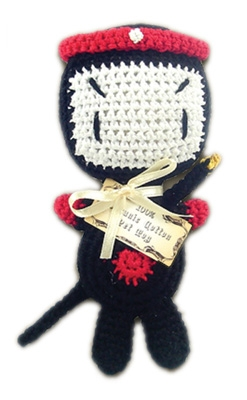 Knit Knacks Miyagi Organic Cotton Small Dog Toy