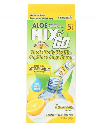 Lily of The Desert Mix N'Go Aloe Drink - Lemon - Case of 10