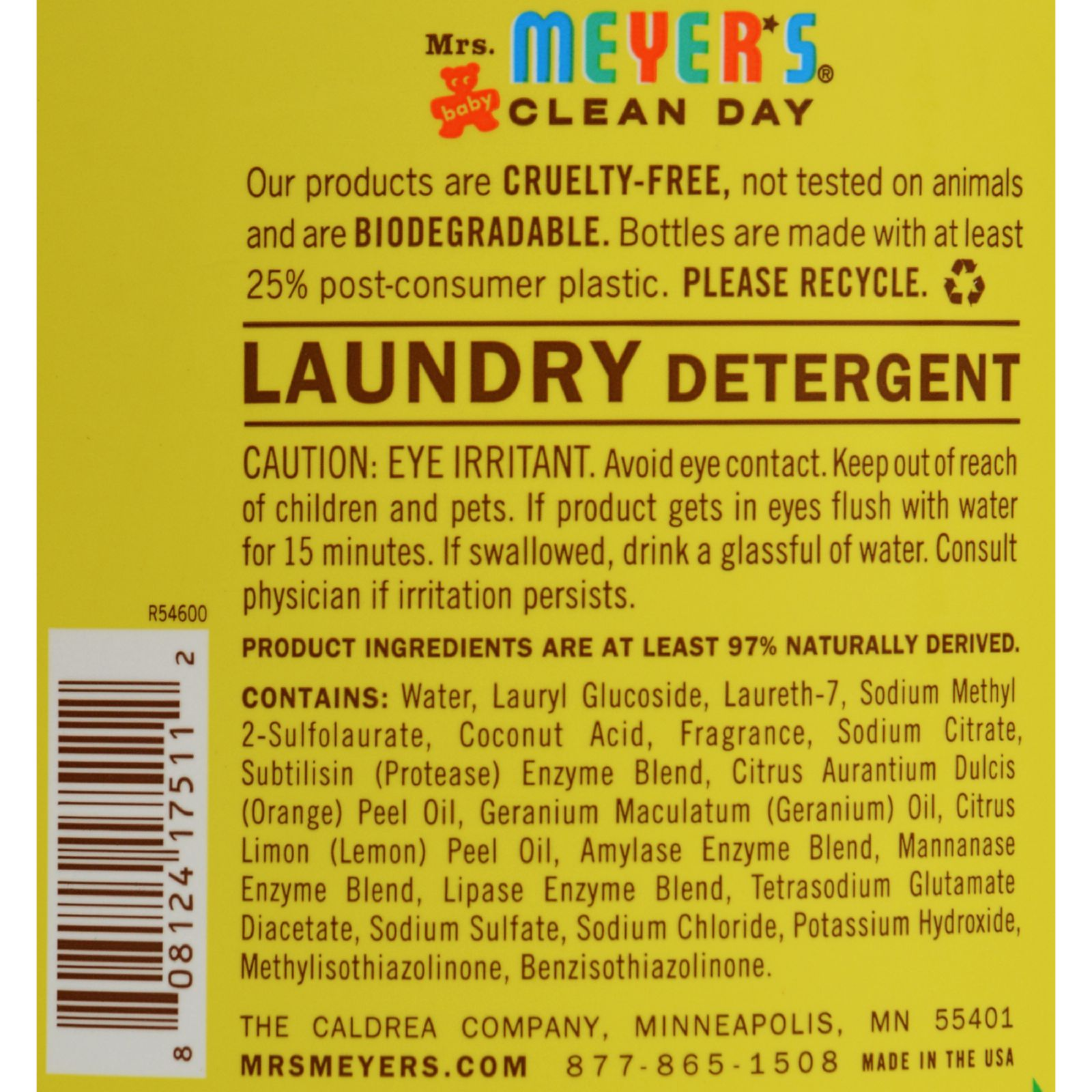 Mrs Meyer S 2x Laundry Detergent Baby Blossom Case Of