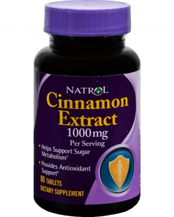 Natrol Cinnamon Extract - 1000 mg - 80 Tablets